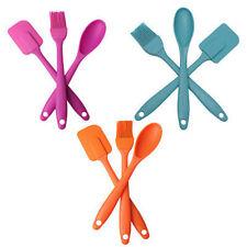 3pcs Silicone spatule cuillère Brush Set cuisine ustensile Tool anti-calori ZH