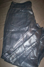 """NWT!!  $340 DIESEL BLACK&GOLD """"POLLAK"""" PANTS CROPPED JEANS=SILVER BLUE SIZE 26"""