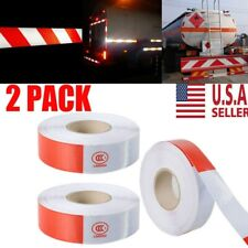 """New listing 2Pc Dot-C2 2""""x150 Premium Reflective Red and White Conspicuity Tape Trailer Us"""