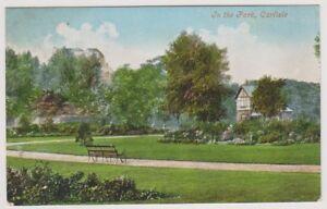 Cumbria postcard - In the Park, Carlisle - P/U 1905 (A264)
