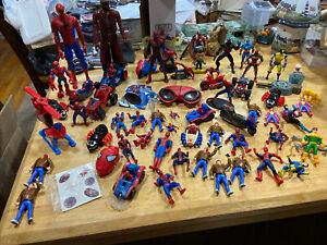 Huge Marvel Spider-man Lot Hulk X-men Dr. Octopus Action Figures Toys Capt.