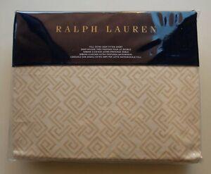 Ralph Lauren Weston Park Cotton Full Extra Deep Fitted Sheet Hutchings Cream NEW