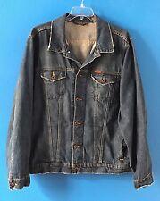 RALPH LAUREN POLO Jeans Co. Men's Distressed Denim US FLAG Jean Jacket Size XXL