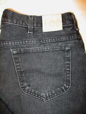Lee  Tapered Leg Mens Black Denim Jeans Size 40 x 32 Mint