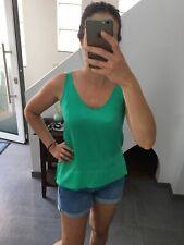 H&M Blusentop Sommertop mintgrün smaragd Türkis Bluse 34