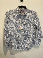 *NWT* ROBERT GRAHAM Atlantic Paisley Print White Shirt Men's Size M MSRP $198