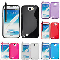 Housse Coque TPU Silicone GEL Soupe S Vague Samsung Galaxy Note 2 N7100