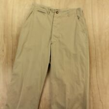 New listing vtg Wwii Ww2 Us Army khaki twill pants trousers 30 x 29 button fly military 40s