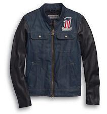 HARLEY-DAVIDSON Jacke Arterial Funktionsjacke Jeans-Leder Blau-Schwarz