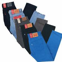 Levis 502 Mens Jeans Regular Fit Stretch Tapered Leg Zip Denim 30 32 34 36 38 40