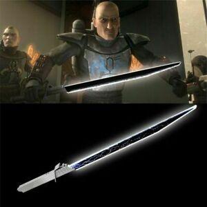 Star Wars Mandaloria Visas Marr Darksaber Lightsaber Sword Metal Handle Present