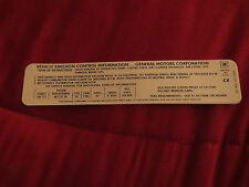 1972 CHEVROLET CHEYENNE BLAZER GMC TRUCKS 402 ENGINE EMISSIONS DECAL STICKER