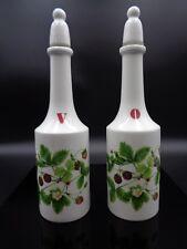 Portmeirion Summer Strawberries ~ PAIR OF CRUET BOTTLES ~ Vinegar & Oil