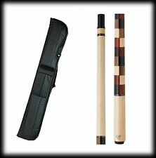 New Elite EP20 Pool Cue Stick - Maple w/checkered squares 18-21 oz & Case