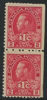 Scott MR3: 2c+1c King George V Admiral War Tax, Die I, pair, FVF-H