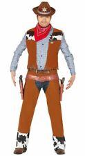 Mens Cowboy Rodeo Wild West Gunslinger Fancy Dress Costume Outfit