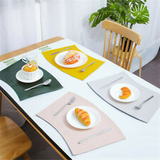 Rectangle Table Placemats Set  of 4 Washable Table mats For Kitchen Table Pads
