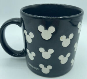 Mickey Mouse Silhouetted Black and White Coffee Tea or Cocoa Mug 12 Oz
