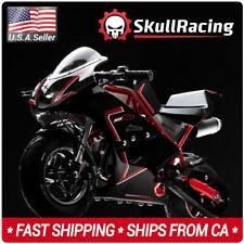 SkullRacing Gas Powered Mini Pocket Bike Motorcycle 50RR (Red)