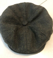 Country Green Check Tweed Flat Cap/Hat Wool Mix Never Used
