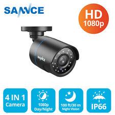 SANNCE 4in1 Bullet 1080p HD CCTV Camera Home Surveillance System Night Vision IR