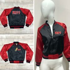 NWT KISS By Dragonfly Women'S Black & Red Junior Varsity Jacket Size S