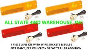 Jeep CJ5 CJ7 CJ8 Jeepster Commando SJ Wagoneer  Truck side marker lenses & wire