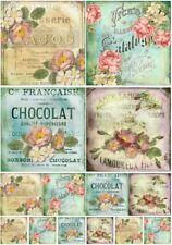 Decoupage-Bastelpapier-Softpapier-Serviettentechnik-Vintage-French-12311