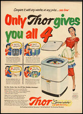 Thor Spinner-Washer with Hydro Swirl Action Vintage Ad 1951 (110311)