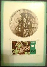 POLAND STAMPS MNH Fibl37 Scb120 Mibl41 block- Olympic Academy Session,1970,clean