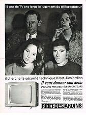PUBLICITE ADVERTISING  1964    RIBET-DESJARDINS  téléviseur 2
