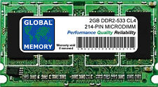 2gb DDR2 533MHz PC2-4200 214-PIN Microdimm Memoria Ram para Portátiles/Notebooks