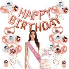 28pcs Set Rose Gold Birthday Party Foil Confetti Balloons Wedding Decor Supplies