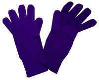 Ladies Stretch Knit Gloves Purple Acrylic One size fits most Warm Winter Thermal