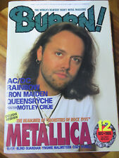 BURRN! HEAVY METAL MAGAZINE METALLICA 1995