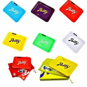 Runtz Glow LED Light up Rechargeable Smoking Rolling Tray All Colours Available