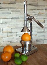 XL PROFI Zitrus-Orangen Saftpresse MANUELL aus EDELSTAHL / CHROM           12069