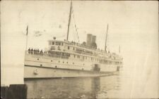 Eastern Steamship Co Steamer Co SS Camden c1910 Real Photo Postcard