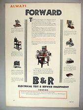 B & R Electrical Test & Service Equipment PRINT AD - 1929 ~ Burton & Rogers Mfg.
