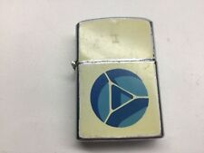 Vintage Flip Top Lighter True Blue & Green Cigarettes Advertising Continental
