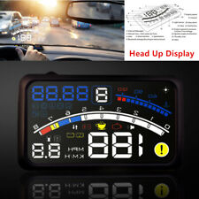 5.5'' OBII Auto HUD Head Up Display Digital Speeding   System Fuel Engine