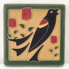 4x4 Arts & Crafts Blackbird Tile in Jade by Arts & Craftsman Tileworks