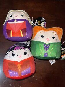 "Squishmallows Hocus Pocus 5"" Plush Sanderson Sisters Disney Set 3 Halloween NWT"