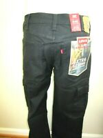 Levi's Mens 545 Athletic Cargo Workwear Extra Strong Pants Black NWT All Sizes
