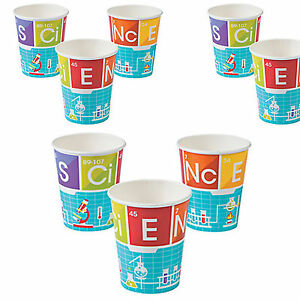 8 ScienceParty Cups|Science Party|Party Cups|Paper Party Cups