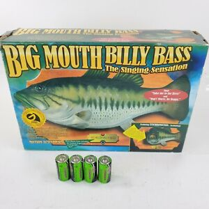 NEW Big Mouth Billy Bass GEMMY 1st issue EXTRA Brass PLATE Animated Singing Fish