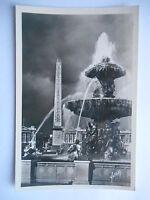 """CPSM """"Paris - Une des fontaines de la place de la Concorde et l'obélisque"""""""