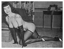 Betty Page nylons legs print nude busty leggy female girl photo Bettie stockings