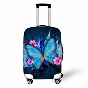 "Butterfly Elastic Spandex Travel Luggage Cover Protector Suitcase size 22"" - 24"""
