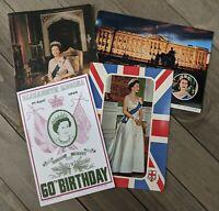 Vintage Queen Elizabeth II  & Buckingham Palace Unused Postcards